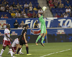 September 27, 2017 - Harrison, New Jersey, United States - Goalkeeper Steve Clark (50) of DC United saves during regular MLS game against New York Red Bullsd at Red Bull Arena Game ended in draw 3 - 3 (Credit Image: © Lev Radin/Pacific Press via ZUMA Wire)
