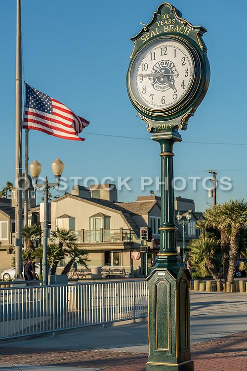 Seal Beach Centennial Clock at the Pier in Seal Beach Califonria