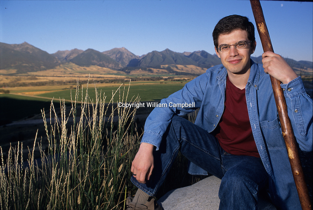 Christopher Paolini, author of bestselling fantasy books Eragon and the 2005 sequel Eldest in Montana, USA.
