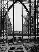 Hull under Construction, Camwell Laird shipyard, England, 1928