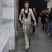 Sesto e penultimo giorno della Settimana della Moda a Milano: Nieves Alvarez fotografata alla sfilata di Roberto Cavalli<br /> <br /> Sixth day and penultimate day of Milan Fashion Week: Nieves Alvarez photographed at the fashion show Roberto Cavalli