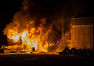 Sometime during night, a shed disappeared in fire.
