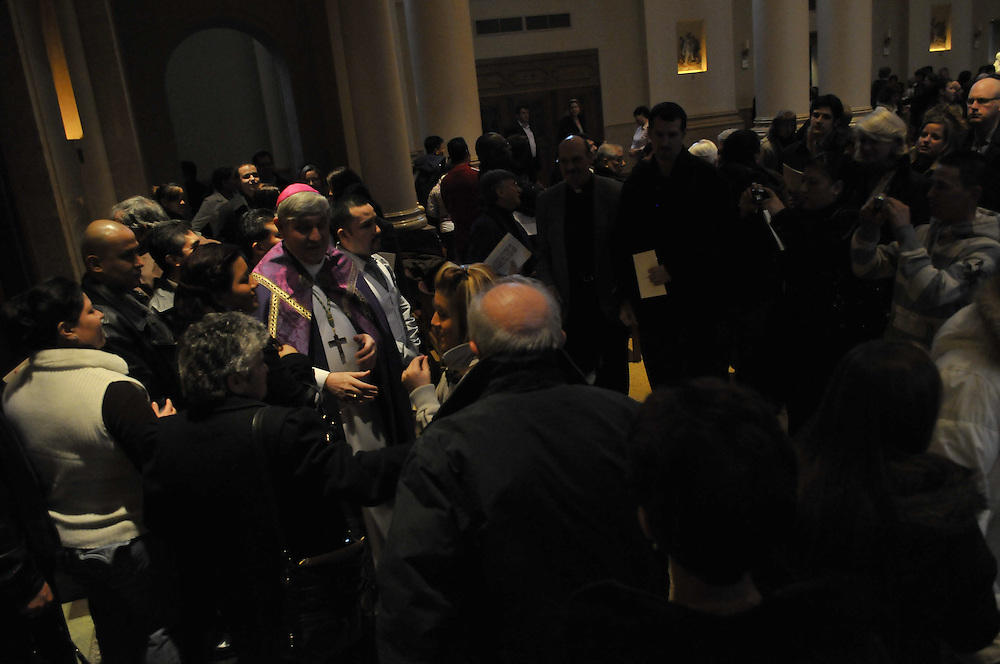 Archbishop Listecki mingles with those who attended the celebration Sunday, Feb. 28.