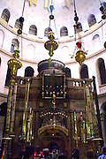 The Sepulchre at the Church of the Holy Sepulchre, in the Christian quarters, Jerusalem, Israel
