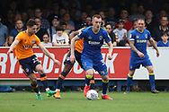 AFC Wimbledon striker Joe Pigott (39) dribbling during the EFL Sky Bet League 1 match between AFC Wimbledon and Oldham Athletic at the Cherry Red Records Stadium, Kingston, England on 21 April 2018. Picture by Matthew Redman.