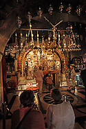 Golgotha (Calvary) inside the  Holy Sepulchre in the Old City of Jerusalem <br /> Photo by Dennis Brack