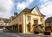 Historic Market Hall building, Tetbury, Gloucestershire, Cotswolds, England, UK