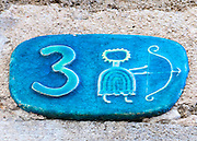 Ceramic numbers the number three