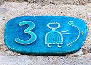 Ceramic numbers the number three