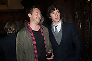 STEPHEN CAMPBELL MOORE; BENEDICT CUMBERBATCH;, The Almeida Theatre  celebrates Mike Attenborough's 11 brilliant years as Artistic Director. Middle Temple Hall,<br /> Middle Temple Lane, London, EC4Y 9AT