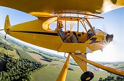 Jun. 13, 2014; Flying a 1946 Piper Cub near Glenndale (8I3).<br /> <br /> Photo by Matt Cashore
