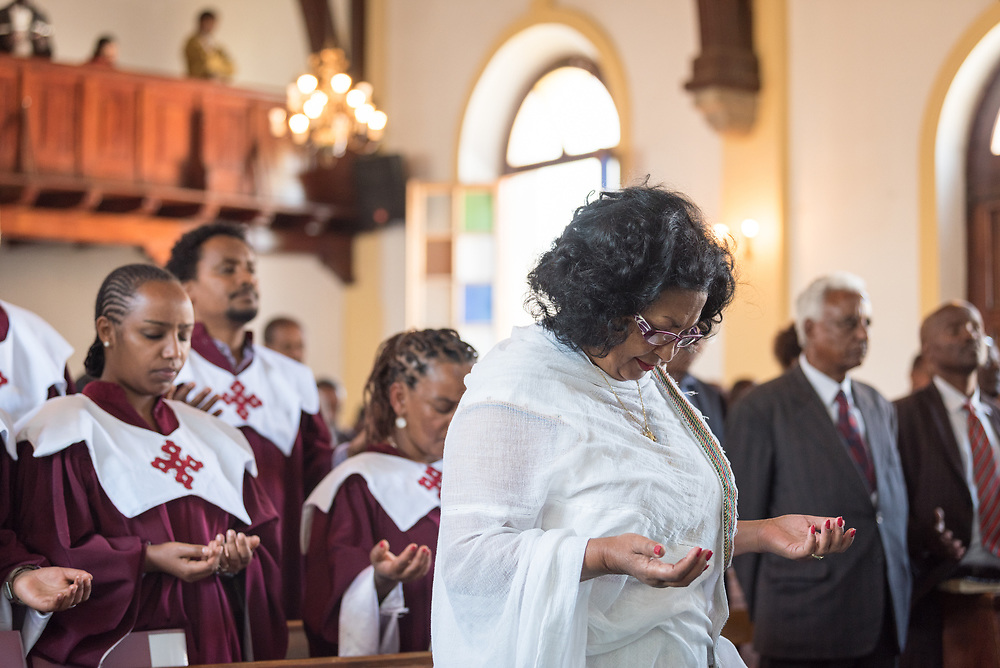 3 February 2019, Addis Ababa, Ethiopia: More than 400 congregants, including a range of ecumenical guests, gather for worship at the Addis Ababa Evangelical Church Mekane Yesus, a congregation in the Ethiopian Evangelical Church Mekane Yesus. The congregation goes back to the very roots of the Lutheran presence in Ethiopia, and currently serves some 2,000 congregants, in a church of 9.3 million members spread across 9,000+ congregations around Ethiopia.