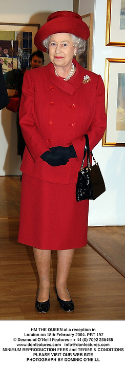 HM THE QUEEN at a reception in London on 18th February 2004.PRT 197