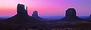 ARIZONA, MONUMENT VALLEY West Mitten, East Mitten and Merrick Butte