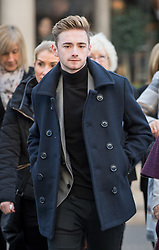 © Licensed to London News Pictures. 18/01/2017. London, UK. Terror attack survivor Owen Richards arriving at The Royal Courts of Justice for the third day of an inquest into the death of 30 Brits in the Tunisia terror attack. The attack took place is Sousse, Tunisia, when Seifeddine Rezgui killed 38 tourists on a beach outside Imperial Marhaba hotel. Photo credit : Tom Nicholson/LNP