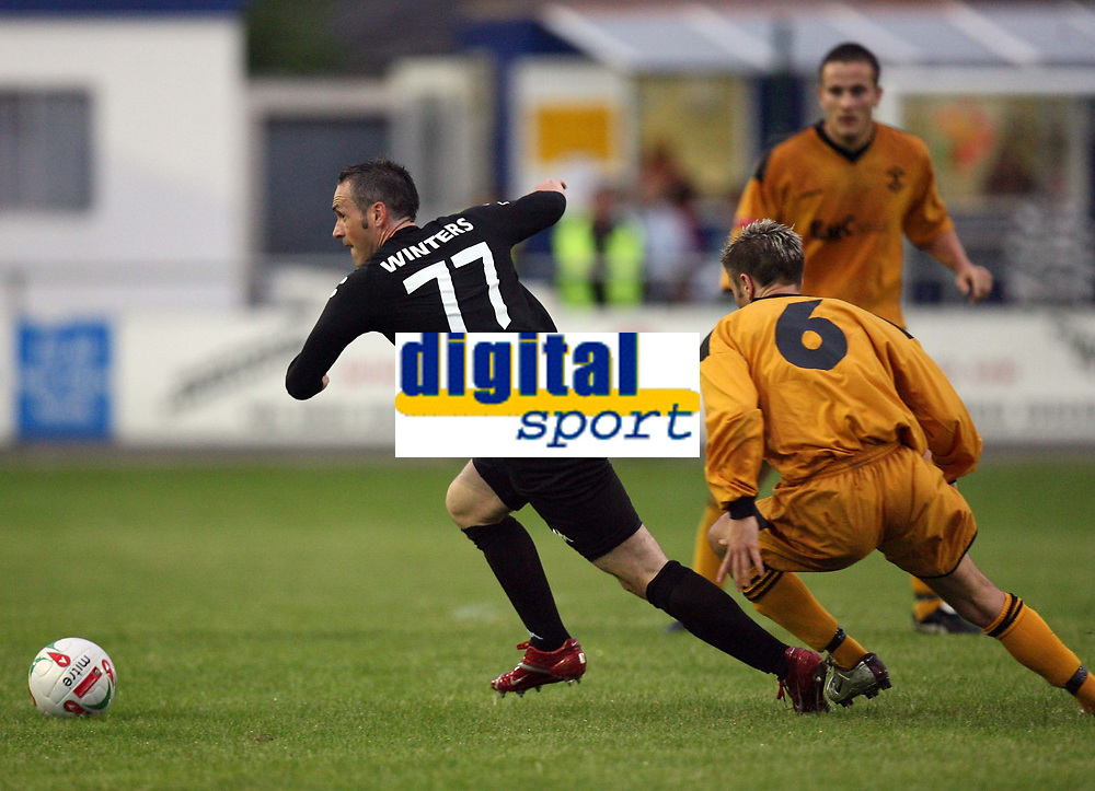Photo: Rich Eaton.<br /> <br /> Carmarthen Town v SK Brann. UEFA Cup Qualifying. 19/07/2007. SK Brann's Robbie Winters #77 on the attack