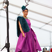 09.10.2016           <br /> Models on the catwalk showing designs by Aisling Maher Millenery and Boutique at the Keanes Jewellers Best dressed competition at Limerick Racecourse. Picture: Alan Place