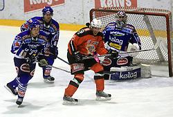 Michael Stewart (4), Roland Kaspitz (8), Conny Stromberg (25) and Bernhard Starkbaum (29) at ice hockey match Acroni Jesencie vs EC Pasut VSV in EBEL League,  on November 23, 2008 in Arena Podmezaklja, Jesenice, Slovenia. (Photo by Vid Ponikvar / Sportida)