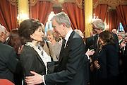 JACQUELINE DE RIBES; BERNARD ARNAULT, Legion d'honneur awards. Elysee Palace, Presidence. Rue du Faubourg. 50 Rue de la Bienfaisance. Paris. 07 April 2010