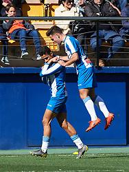 February 3, 2019 - Villarreal, Castellon, Spain - Rosales of RCD Espanyol celebrates a goal during the La Liga match between Villarreal and Espanyol at Estadio de la Ceramica on February 3, 2019 in Vila-real, Spain. (Credit Image: © Maria Jose Segovia/NurPhoto via ZUMA Press)