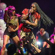 "WASHINGTON, DC - October 2nd, 2014 - Big Freedia  performs at the Howard Theatre in Washington, D.C.  Freedia is credited with bringing New Orleans ""bounce music"" to the masses. His latest album, Just Be Free, was released in June. (Photo by Kyle Gustafson/For The Washington Post)"