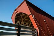 Hogback Covered Bridge; Photograph of the Bridges of Madison County, Winterset, Iowa, USA.