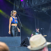 Kerri Watt from Scotland performs at Kew the Music 2019 on 14 July 2019, London, UK.