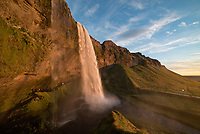 I walked the loop around Seljalandsfoss about 3 times, capturing the different angles as the light changed. I was glad I had my rain jacket with me.