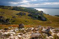Steppe landscapes of Bagerova at Azov Seashore. Kerch Peninsula, Crimea, Ukraine