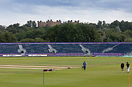 General view across the ground before Day 4 of the Specsavers County Champ Div 2 match between Durham County Cricket Club and Leicestershire County Cricket Club at the Emirates Durham ICG Ground, Chester-le-Street, United Kingdom on 21 August 2019.