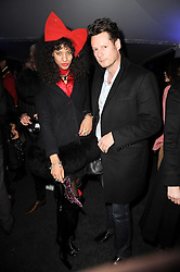 Model JOY VIELI and designer PERCY PARKER at a party to celebrate the Mulberry Autumn Winter 2010 collection held at The Orangery, Kensington Palace, London on 21st February 2010.