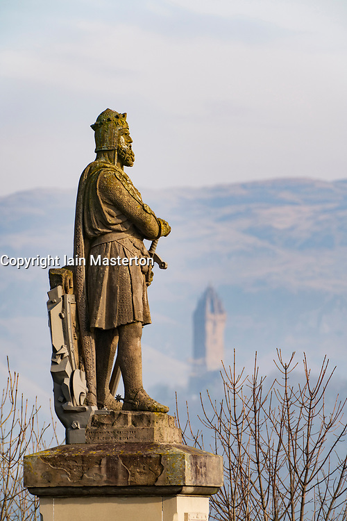 Statue of King Robert the Bruce at Stirling Castle, Stirling, Scotland, UK