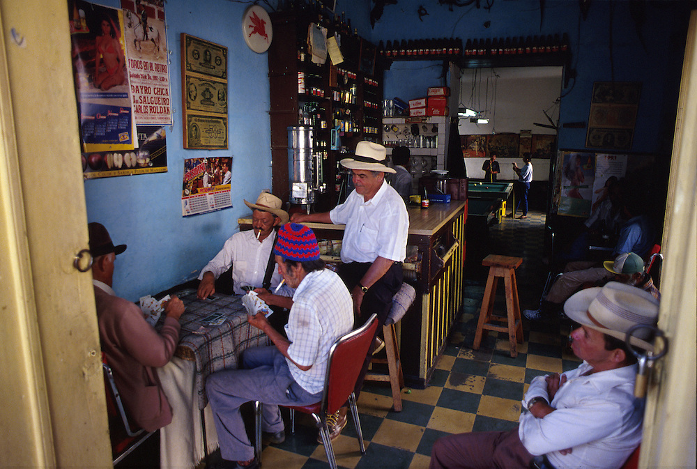 A typical cafe scene in the village of El Retiro, Antioquia.