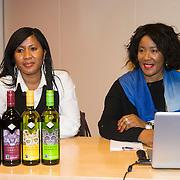 NLD/Amsterdam//20140319 - Presentatie House of Mandela wijnen, Makaziwe Mandela en kleindochter Tukwini Mandela