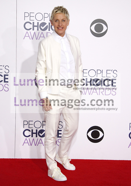 Ellen DeGeneres at the 41st Annual People's Choice Awards held at the Nokia L.A. Live Theatre in Los Angeles on January 7, 2015. Credit: Lumeimages.com