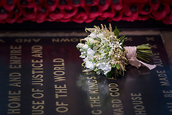 Meghan Markle's wedding bouquet is laid on the grave of the Unknown Warrior in the west nave of Westminster Abbey, London.