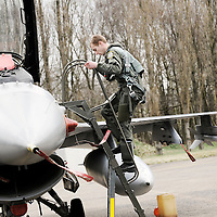 """Kleine Brogel, Belgium 14 March 2008<br /> 31 Tiger squadron of the Belgian Air Force. <br /> Pilot's name: """"Fridge"""".<br /> The primary task of the squadron is taking out ground targets by 'dumb' unguided bombs or by precision bombardments, this during day and night.<br /> Also a great part of training is dedicated to """"air-to-air engagements"""" (intercepting / destroying of hostile aircraft), to be able to operate under every conflict-scenario.<br /> Photo: Ezequiel Scagnetti"""