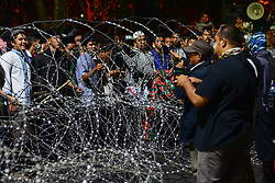 May 25, 2019 - Medan, North Sumatra, Indonesia - Kedaulatan Rakyat Movement (GKR) protested and rejected the simultaneous election results in front of the Medan Regional Parliament (DPRD) building, North Sumatra. (Credit Image: © Saddam Husein/Pacific Press via ZUMA Wire)