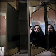 Self portrait in a mirror