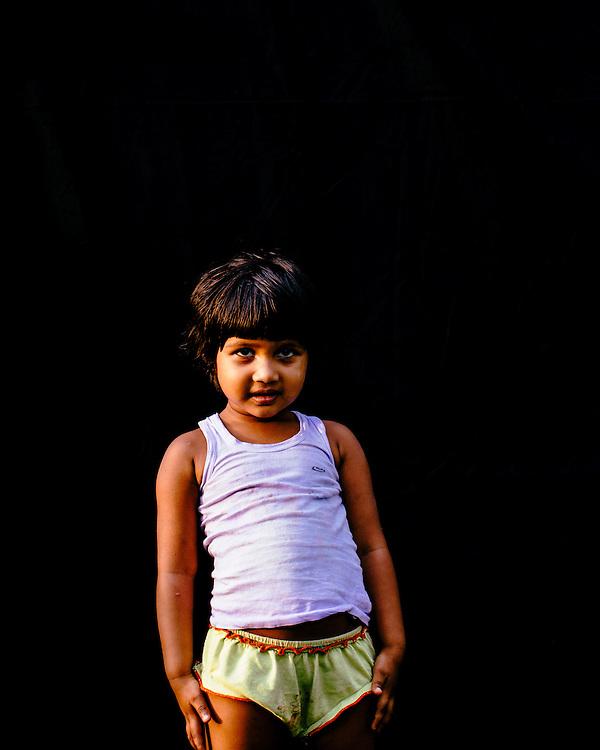 Portrait of an asian child