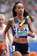 French team comptes in 4X400m Women during the European Championships 2018, at Olympic Stadium in Berlin, Germany, Day 4, on August 10, 2018 - Photo Photo Julien Crosnier / KMSP / ProSportsImages / DPPI