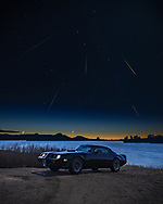 BOLO Photo<br /> Wild West Automotive Photography<br /> Everything the Light Touches<br /> Leonid Meteor Shower<br /> 18 Nov 19<br /> Silver Crown Campground in Curt Gowdy State Park, Wyoming<br /> (1979 Pontiac Trans Am:Heather Wendelboe)