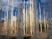 The Park of Lights, with 300, 72 foot tall columns that light up at night, is just one of Medellin's 6 newly constructed public parks--an example of the city's budding renaissance. Medellin - Colombia