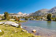 The view along the John Muir Trail at Marie Lake; John Muir Wilderness, Sierra National Forest, Sierra Nevada Mountains, California, USA.