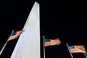 The Washington Monument at night, Washington, DC USA