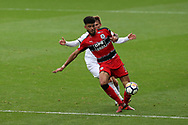 Philip Billing of Huddersfield Town in action. Premier league match, Swansea city v Huddersfield Town at the Liberty Stadium in Swansea, South Wales on Saturday 14th October 2017.<br /> pic by  Andrew Orchard, Andrew Orchard sports photography.