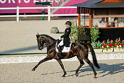 TOKYO - Olympische Spiele / Olympic Games 2021<br /> <br /> KOSTERINA Tatyana (ROC), Diavolessa VA<br /> Grand Prix de Dressage<br /> <br /> Tokio, Equestrian Park<br /> 25. July 2021<br /> © www.sportfotos-lafrentz.de/Stefan Lafrentz