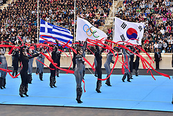 October 31, 2017 - Athens, Attiki, Greece - During the Greek Sport and Cultural event. The Handover Ceremony of the Olympic Flame for Winter Games PYEONGCHANG 2018, took place today in Panathenaic Stadium in the presence of the President of Hellenic Republic Prokopis Pavlopoulos. (Credit Image: © Dimitrios Karvountzis/Pacific Press via ZUMA Wire)