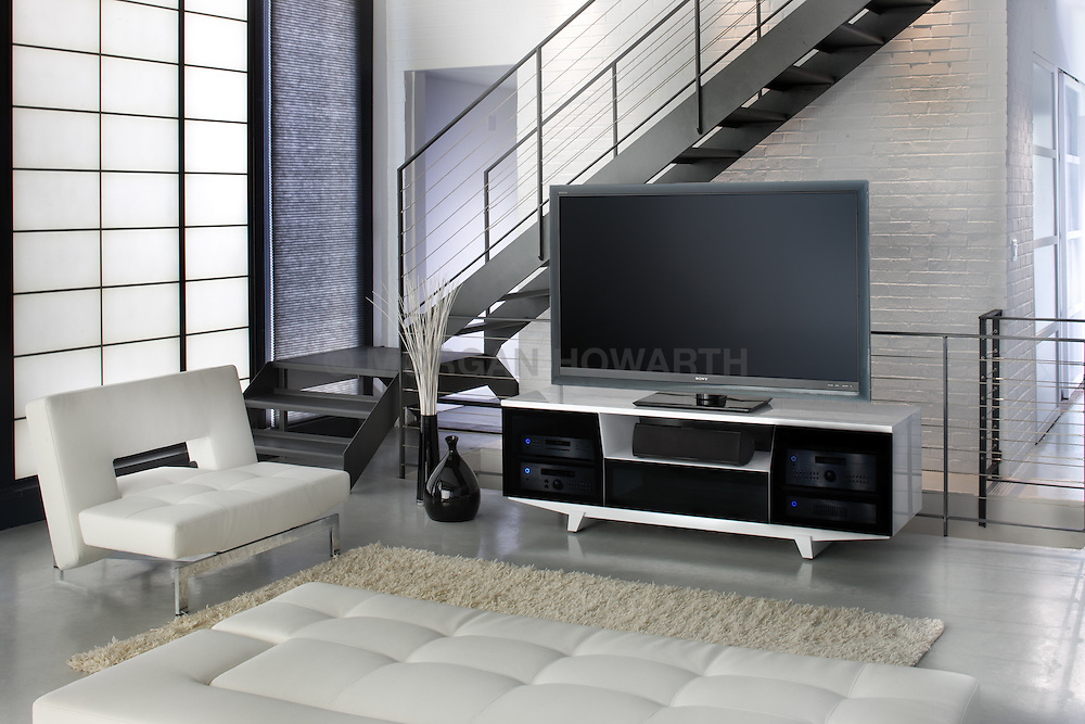Large screen TV room with modern furniture VA1_803_266