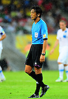 Fifa Brazil 2013 Confederation Cup / Group B Match / <br /> Spain vs Uruguay 2-1 ( Arena Pernambuco Stadium - Recife , Brazil )<br /> The Referee - Yuichi NISHIMURA , during the match between Spain and Uruguay